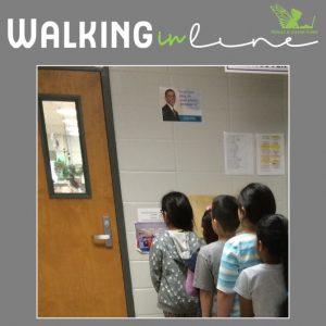 Walking in line