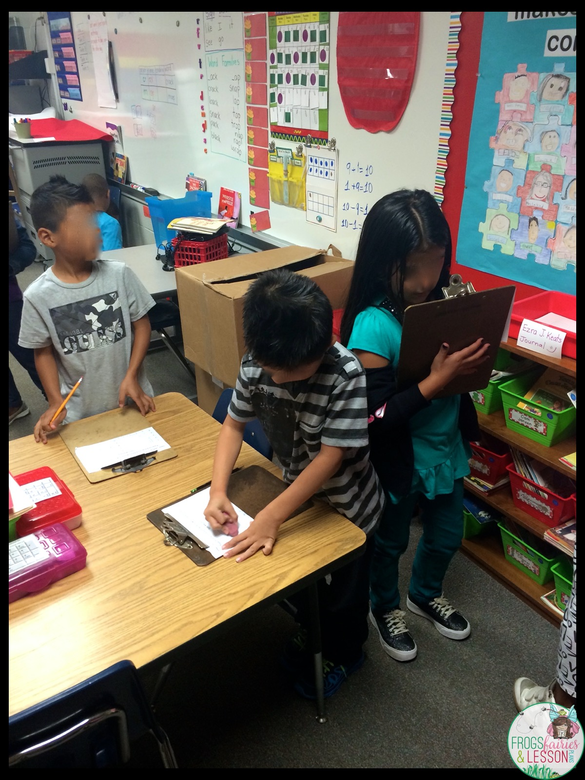 Students in the classroom working together
