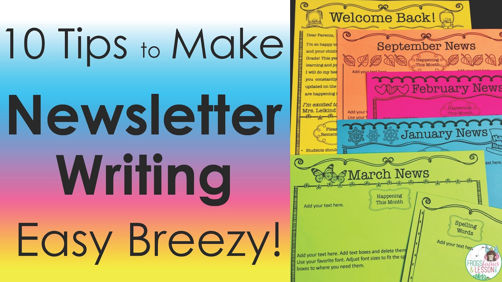 Writing Newsletters tips