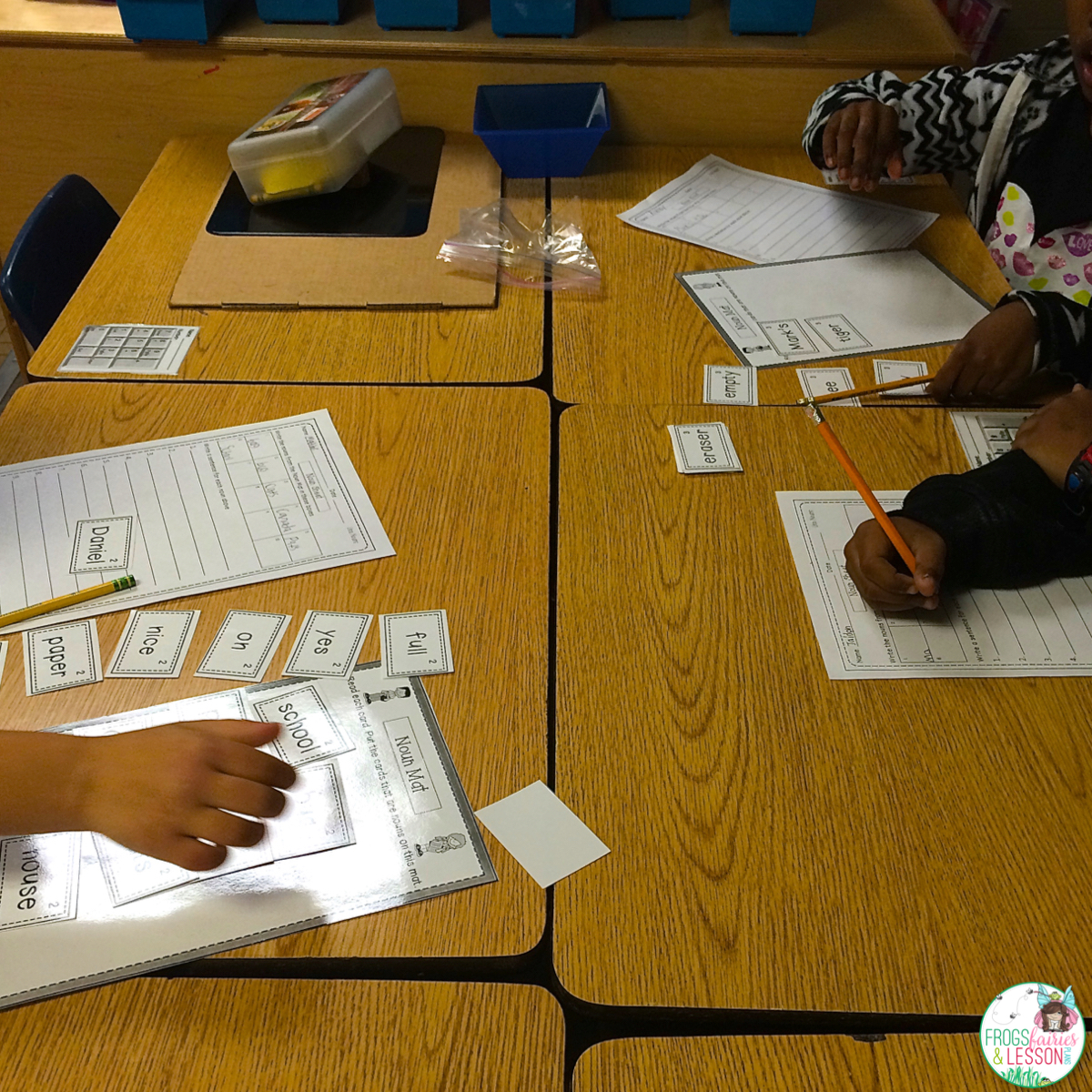 Group activity for sorting nouns and using them in sentences