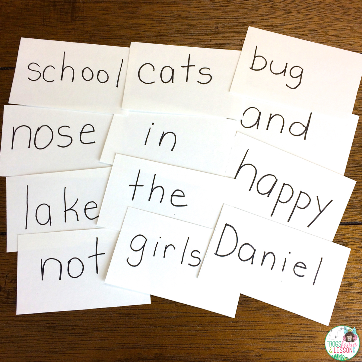 Index Cards With Nouns