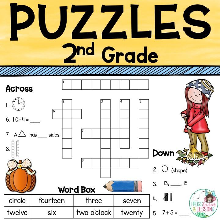 Math Center Ideas Math Crossword Puzzles