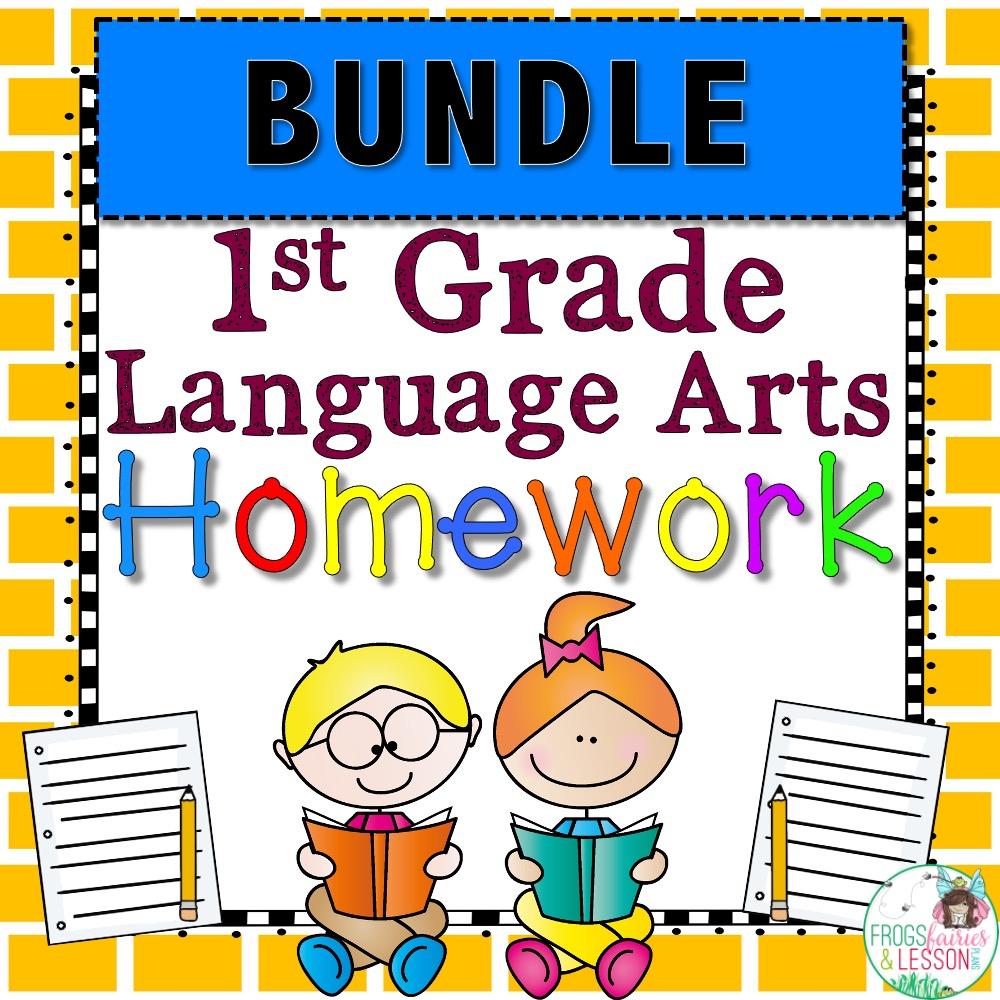 1st Grade Language Arts Spiral Review and Homework