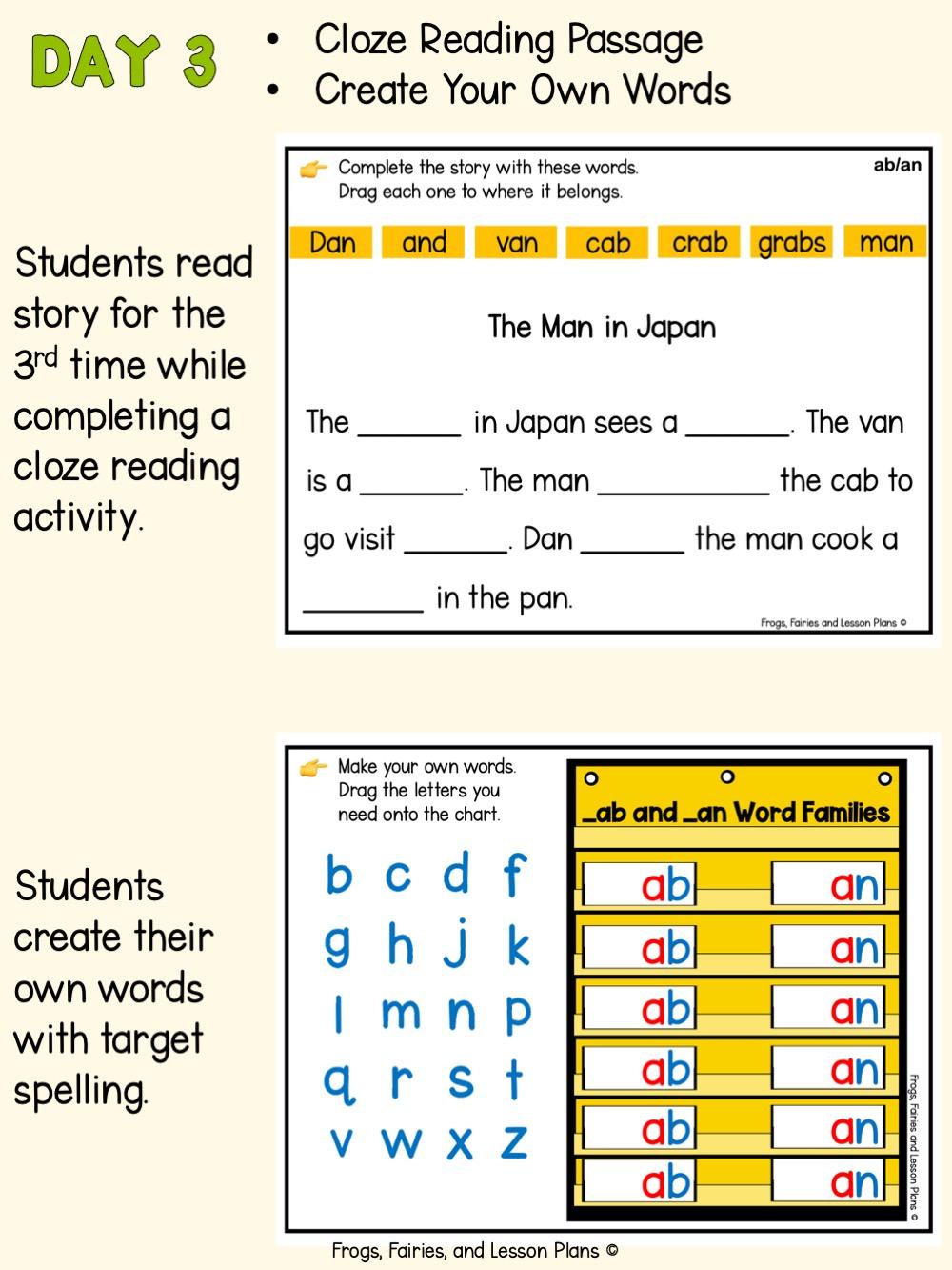 Digital Word Work Activities - CVC, CVCC, and CCVC Words with Short Vowel Sounds
