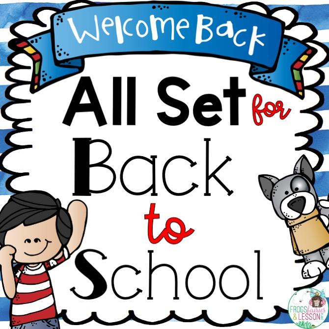 first week of school resources