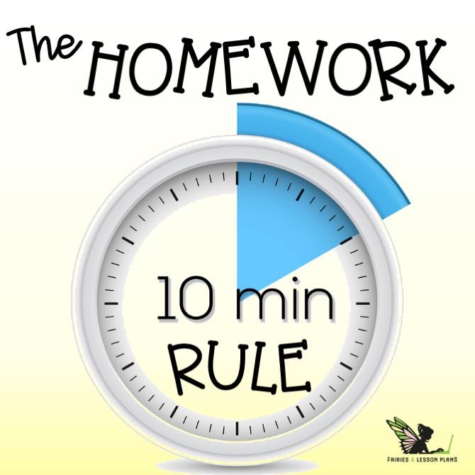 The ten minute homework rule