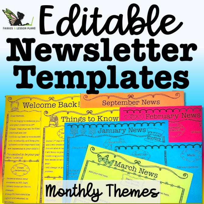 Send newsletters home on your first week of school!