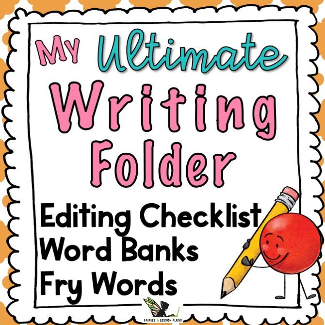 Writing folder. Set before the first week of school.