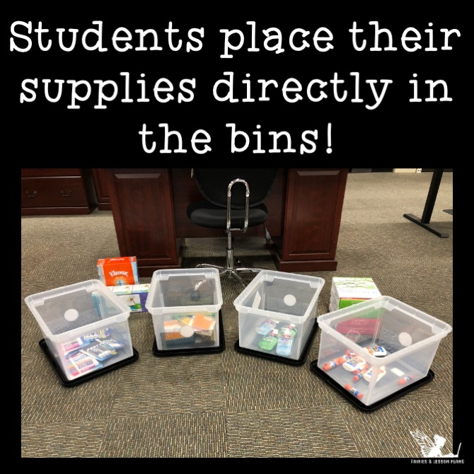Collecting school supplies